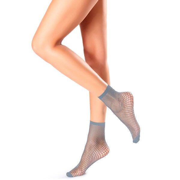 Oroblu Demi-Bas Regular Fishnet Socks - Lightblue