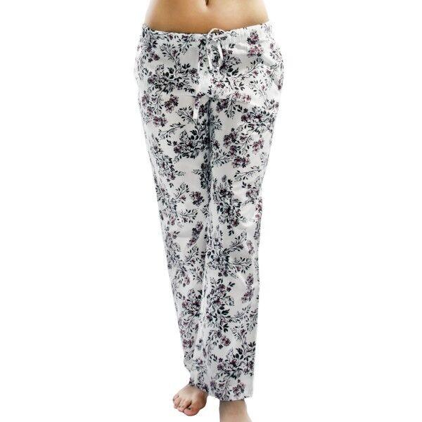Damella Flower 6 Pants - White Pattern-2 * Kampanja *