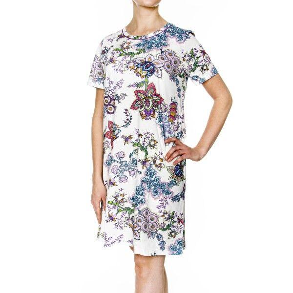 Damella Flower 2 Nightdress - White Pattern-2