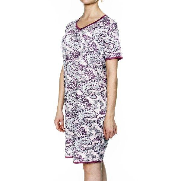 Damella Bamboo Paisley Nightdress - Pink Pattern