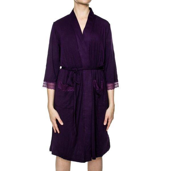 Damella Jersey Robe - Deep purple