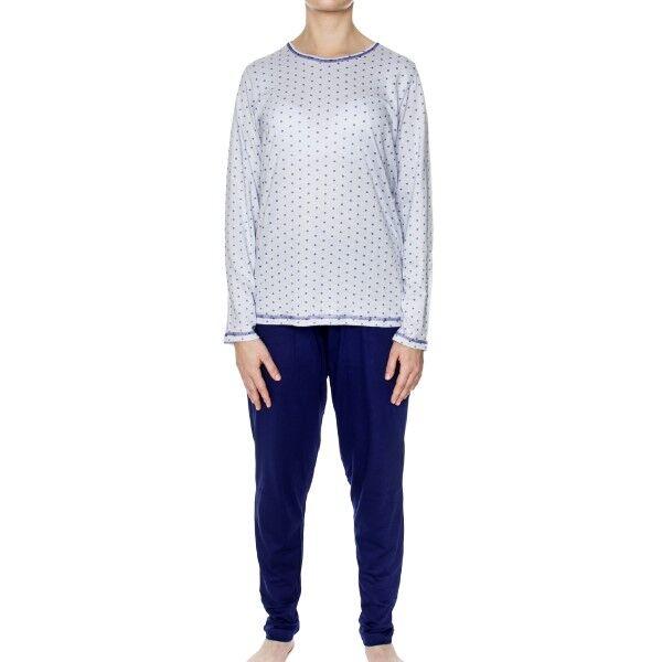 Damella Spots Pyjamas - Blue Pattern