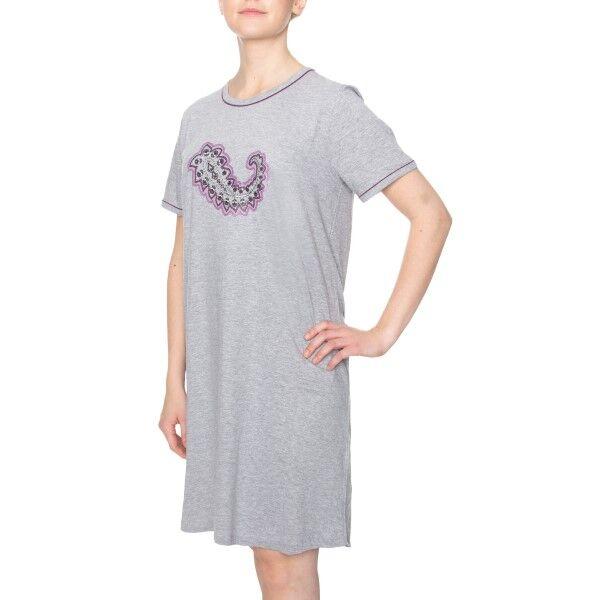 Damella Paisley Print Nightdress - Grey