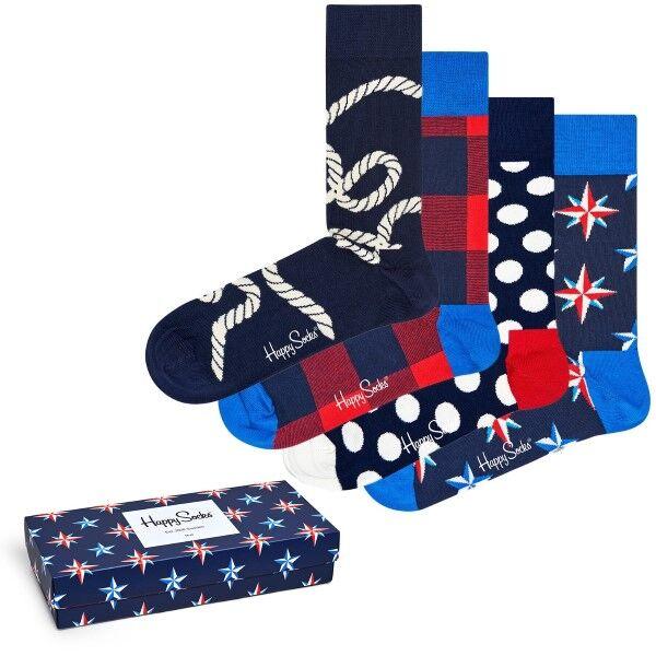 Happy socks 4 pakkaus Nautical Gift Box - Mixed