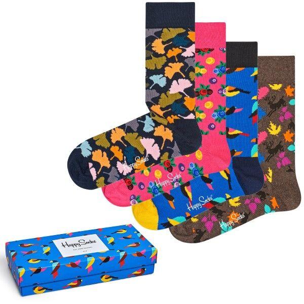 Happy socks 4 pakkaus Forest Gift Box - Mixed
