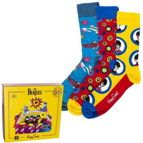 Happy socks 3 pakkaus The Beatles Socks Gift Box - Mixed