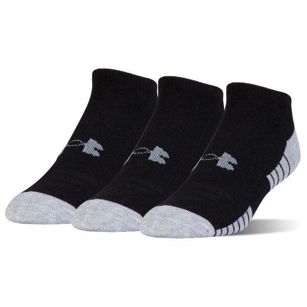 Under Armour 3 pakkaus HeatGear Tech No Show Socks - Black