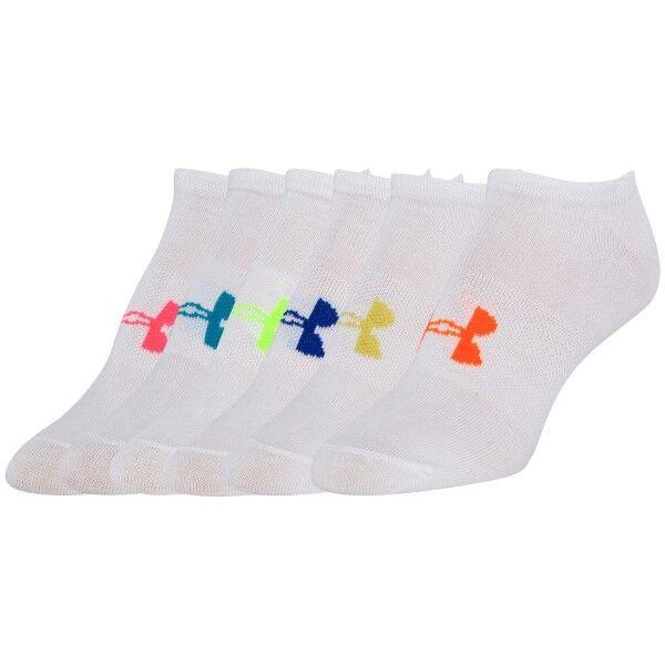 Under Armour 6 pakkaus Solid No Show Socks - White