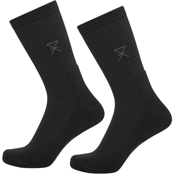 JBS of Denmark 2 pakkaus Bamboo Blend Tennis Socks - Black