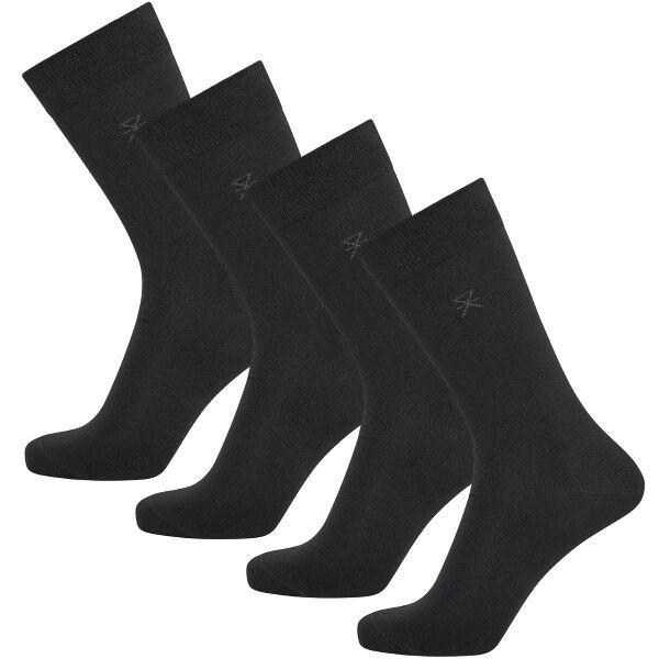 JBS of Denmark 4 pakkaus Bamboo Blend Socks - Black