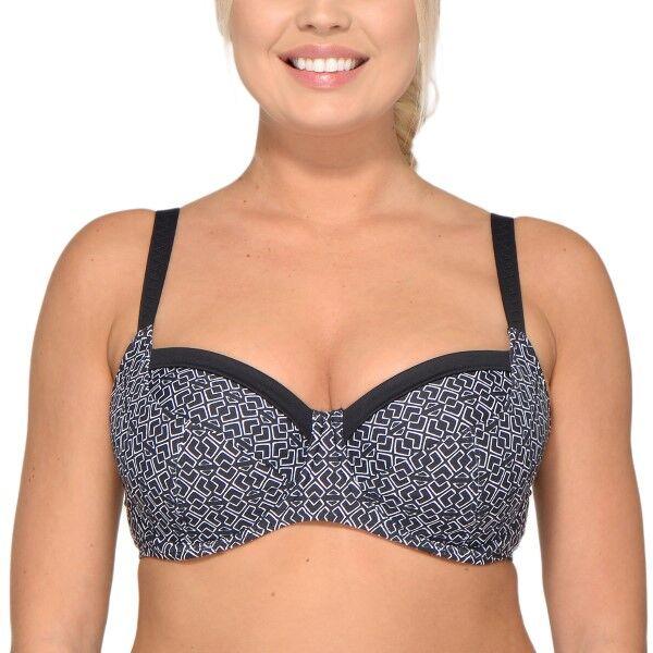 Saltabad Pebble Frida Bikini Bra - Black pattern-2