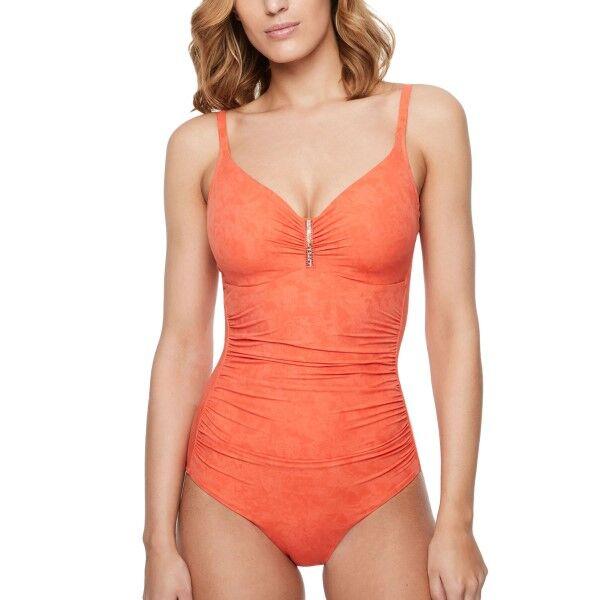 Chantelle Etincelle Underwire Covering Swimsuit - Orange