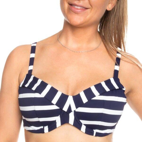 Femilet Indiana Bikini Top Full Cup - White/Navy