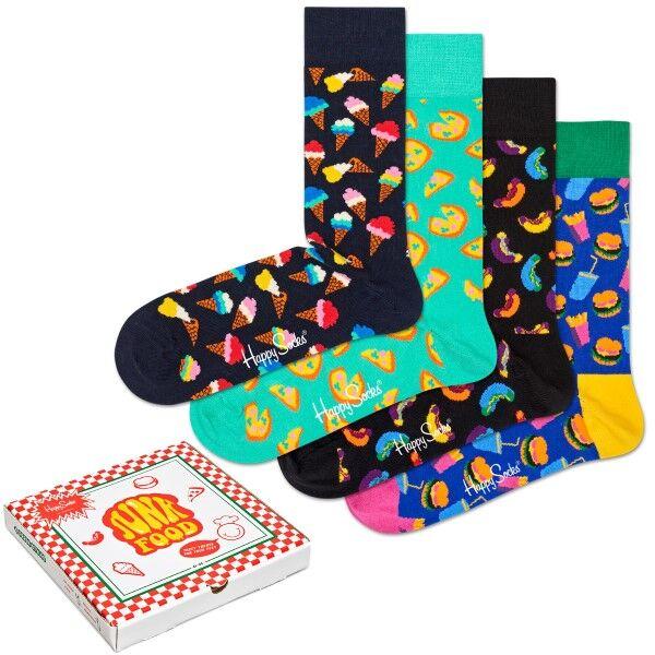 Happy socks 4 pakkaus Junkfood Gift Box - Mixed