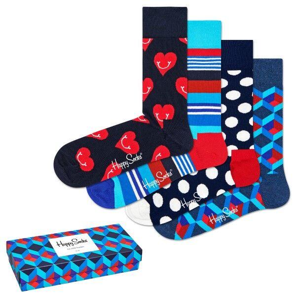 Happy socks 4 pakkaus Nautical Gift Box 630 - Mixed