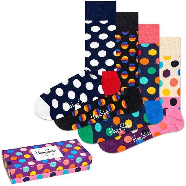 Happy socks 4 pakkaus Dot Gift Box - Mixed