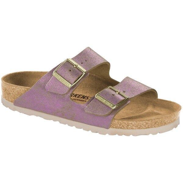 Birkenstock Arizona Leather Washed Metallic - Pink * Kampanja *  - Size: 1012875 - Color: roosa