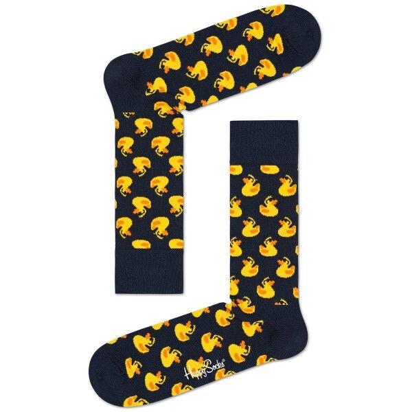 Happy Socks Rubber Duck Sock - Black pattern-2