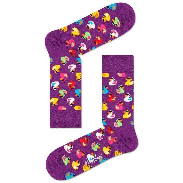 Happy Socks Rubber Duck Sock - Lilac
