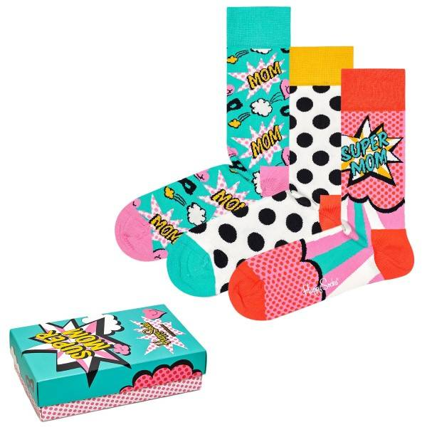 Happy socks 3 pakkaus Mothers Day Gift Box - Mixed  - Size: XMOT0 - Color: Multi-colour