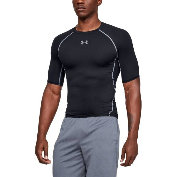 Under Armour HeatGear SS Compression Shirt - Black  - Size: 1257468 - Color: musta