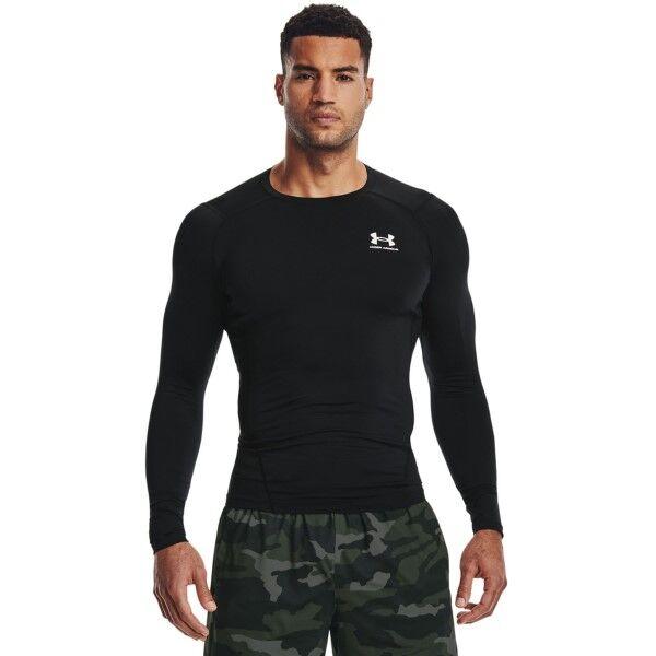 Under Armour HeatGear LS Compression Shirt - Black  - Size: 1257471 - Color: musta