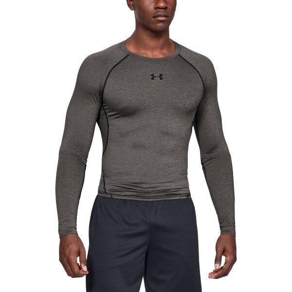 Under Armour HeatGear LS Compression Shirt - Grey  - Size: 1257471 - Color: harmaa