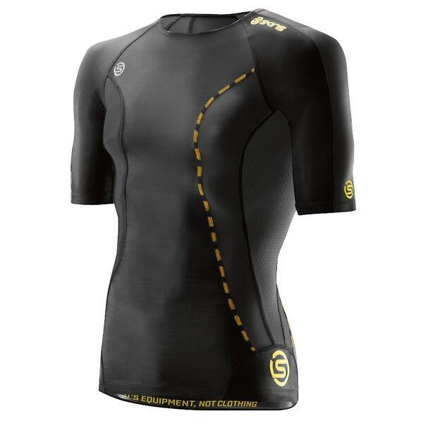 SKINS DNAmic Mens Short Sleeve Top - Black * Kampanja *  - Size: DA99050049001 - Color: musta