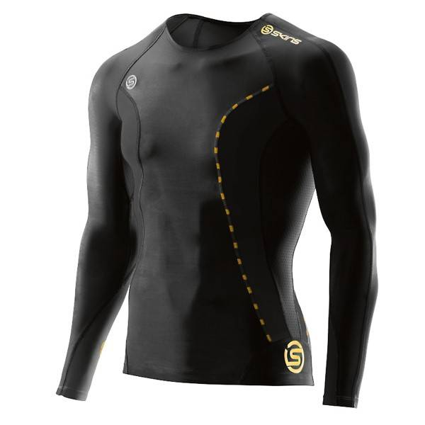 SKINS DNAmic Mens Long Sleeve Top - Black * Kampanja *