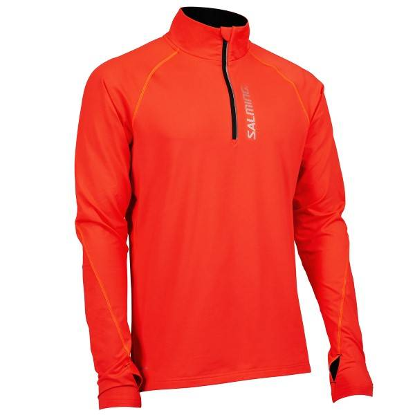 Salming Halfzip Long Sleeve Tee Men - Orange  - Size: 1278332 - Color: oranssi