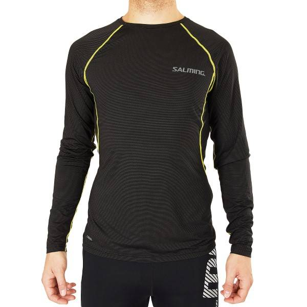 Salming Balance Long Sleeve Tee Men - Black  - Size: 1278660 - Color: musta
