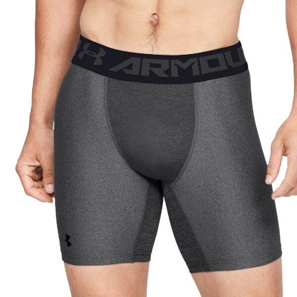 Under Armour HeatGear Mid Compression Shorts - Grey