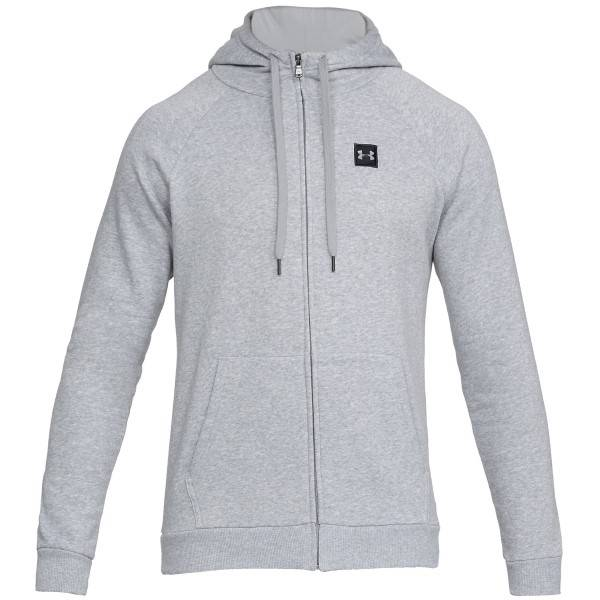 Under Armour Rival Fleece Full-Zip - Grey * Kampanja *  - Size: 1320737 - Color: harmaa