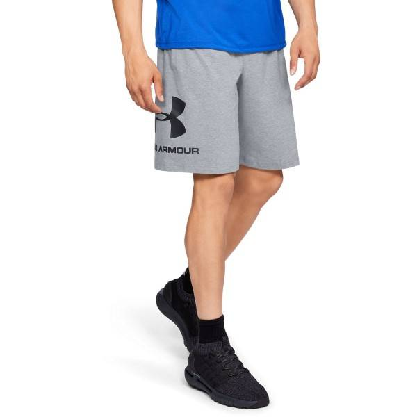 Under Armour Sportstyle Cotton Graphic Shorts - Grey  - Size: 1329300 - Color: harmaa
