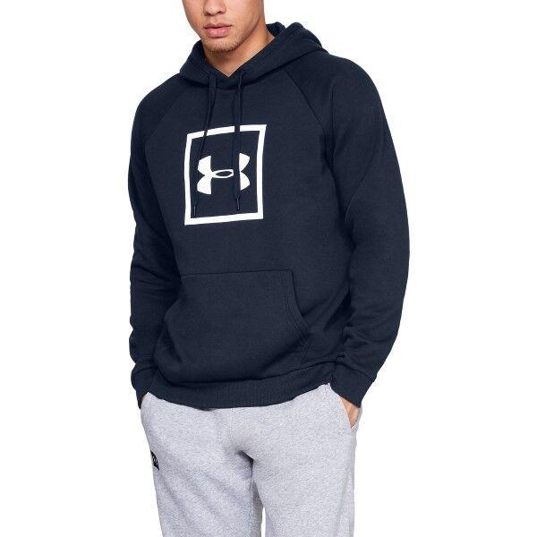 Under Armour Rival Fleece Logo Hoodie - Navy-2 * Kampanja *  - Size: 1329745 - Color: Merensininen