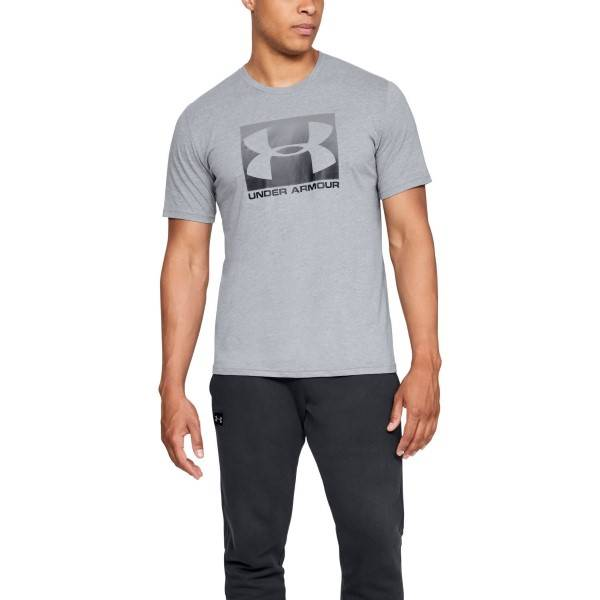 Under Armour Boxed Sportstyle Short Sleeve T-shirt - Grey  - Size: 1329581 - Color: harmaa