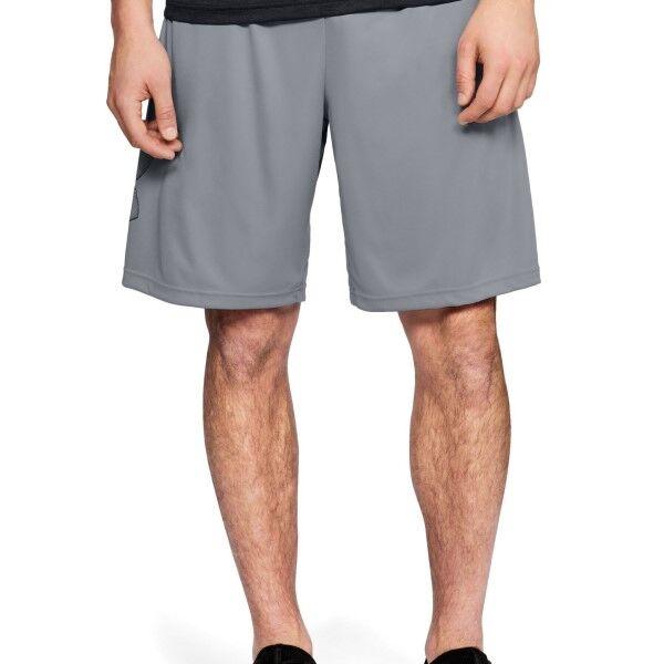 Under Armour Tech Graphic Shorts - Light grey  - Size: 1306443 - Color: vaaleanharm.