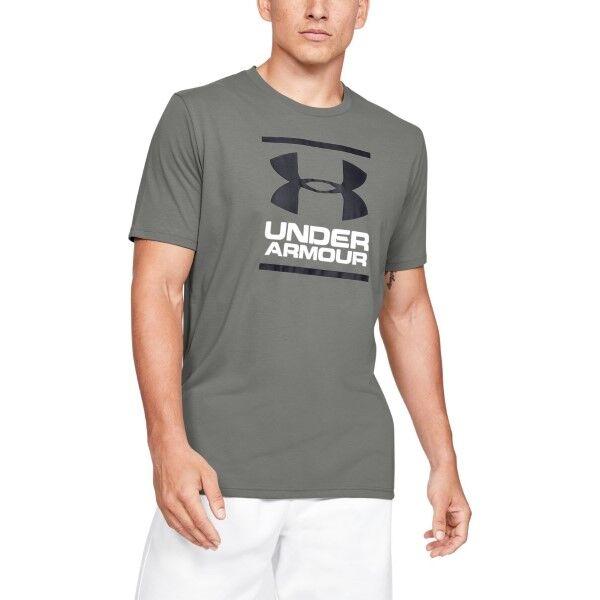 Under Armour GL Foundation SS T - Darkgreen  - Size: 1326849 - Color: tummanvihr.
