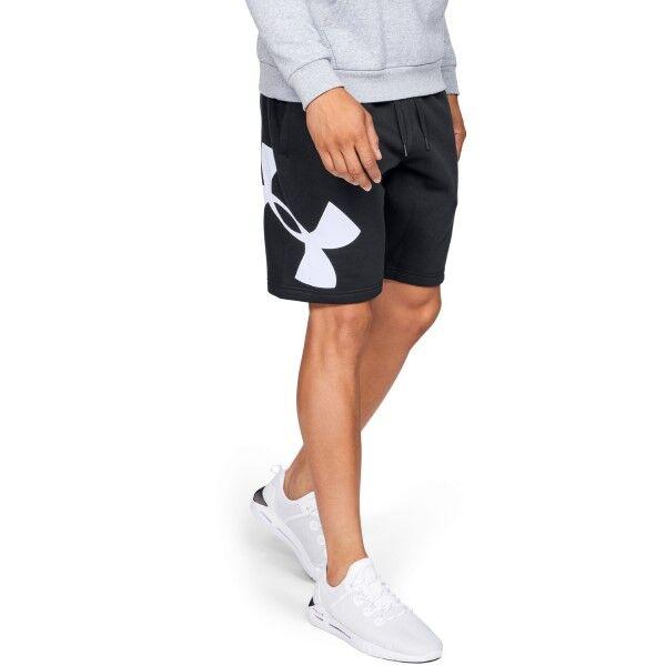 Under Armour Rival Fleece Logo Sweatshort - Black  - Size: 1329747 - Color: musta