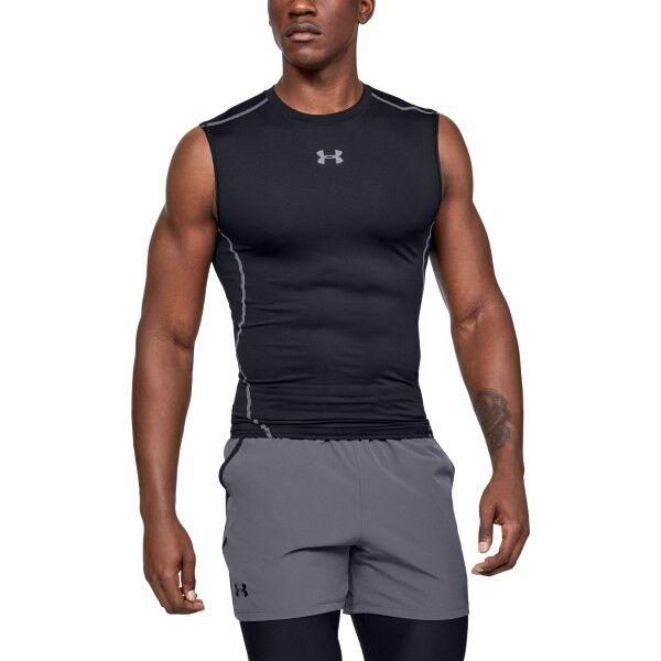 Under Armour HeatGear SL Compression Shirt - Black  - Size: 1257469 - Color: musta