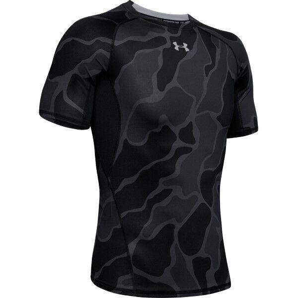 Under Armour HeatGear Short Sleeve T-Shirt - Black  - Size: 1345722 - Color: musta
