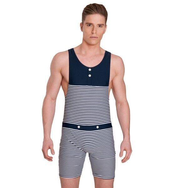Panos Emporio Tyfon Mens Swimsuit - Navy Striped