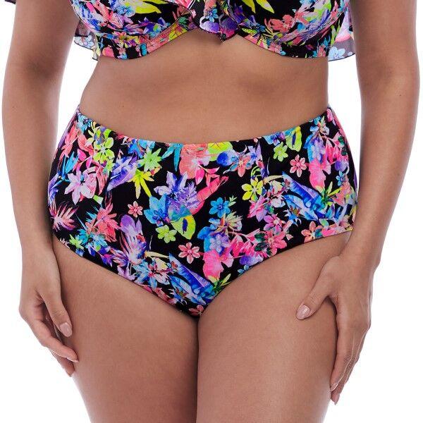 Elomi Swim Electroflower Classic Bikini Brief - Black pattern-2  - Size: ES7175 - Color: Musta kuviollinen