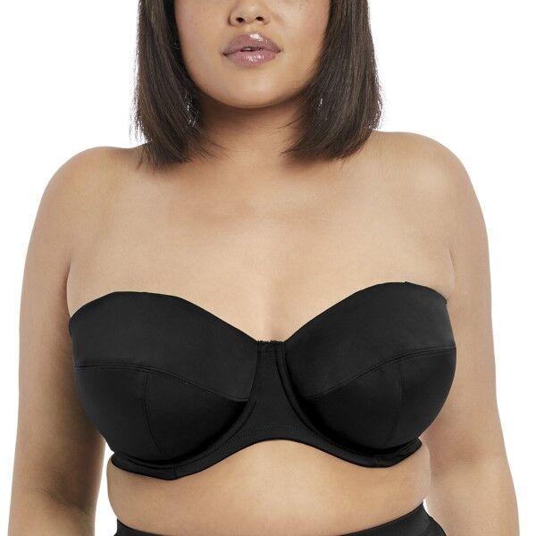 Elomi Swim Essentials Bandeau Bikini Top - Black  - Size: ES7532 - Color: musta