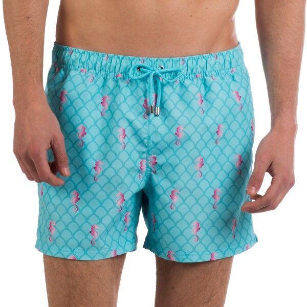 Panos Emporio Horse Race Apollo Swim Shorts - Blue Pattern * Kampanja *