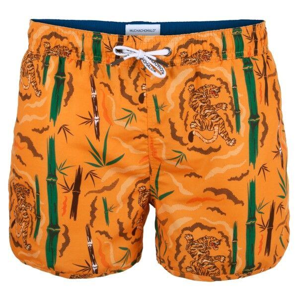 Muchachomalo Swim Tiger Wood Boardshort - Orange patterned * Kampanja *