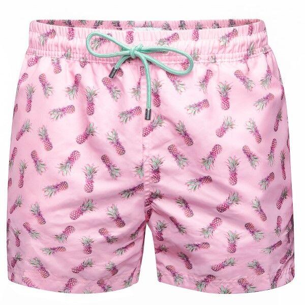 Panos Emporio Pineapple Apollo Swim Shorts - Pink Pattern * Kampanja *