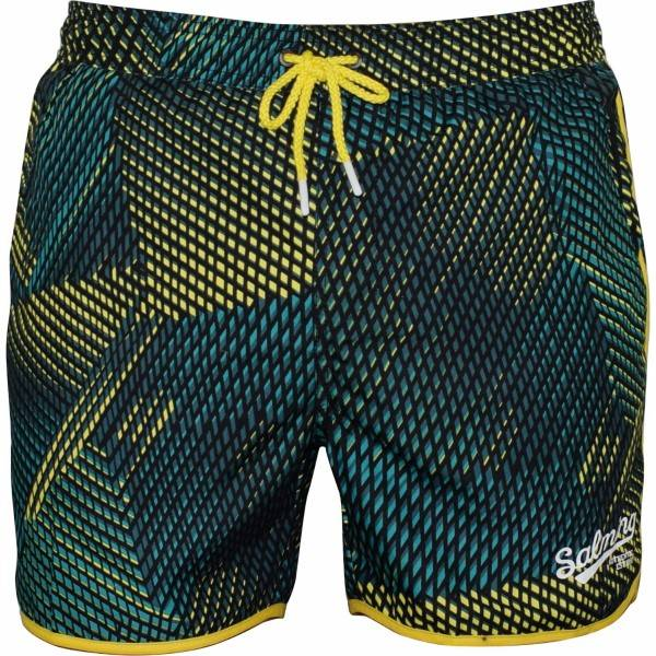 Salming Lake Original Swim Shorts - Black/Green  - Size: 861102 - Color: musta/vihr