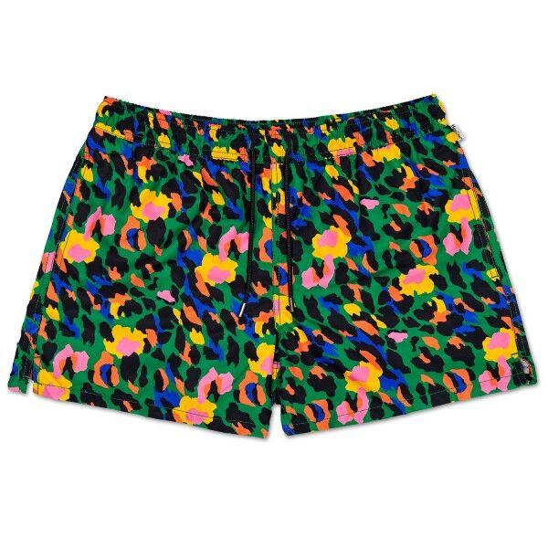 Happy Socks Leopard Swim Shorts - Leopard * Kampanja *  - Size: LEO11 - Color: leopardi