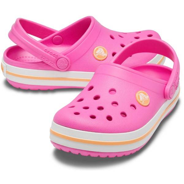 Crocs Crocband Clog Kids - Pink/Yellow  - Size: 204537 - Color: roosa/keltain.
